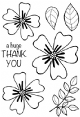 Woodware - Bold Blooms Amanda - Clear Magic Stamp Set - JGS591